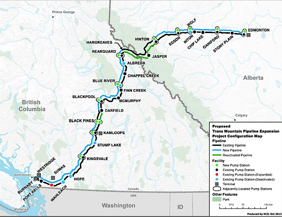 Proposed Trans Mountain Expansion Project Configuration Map - taken from NEB Website