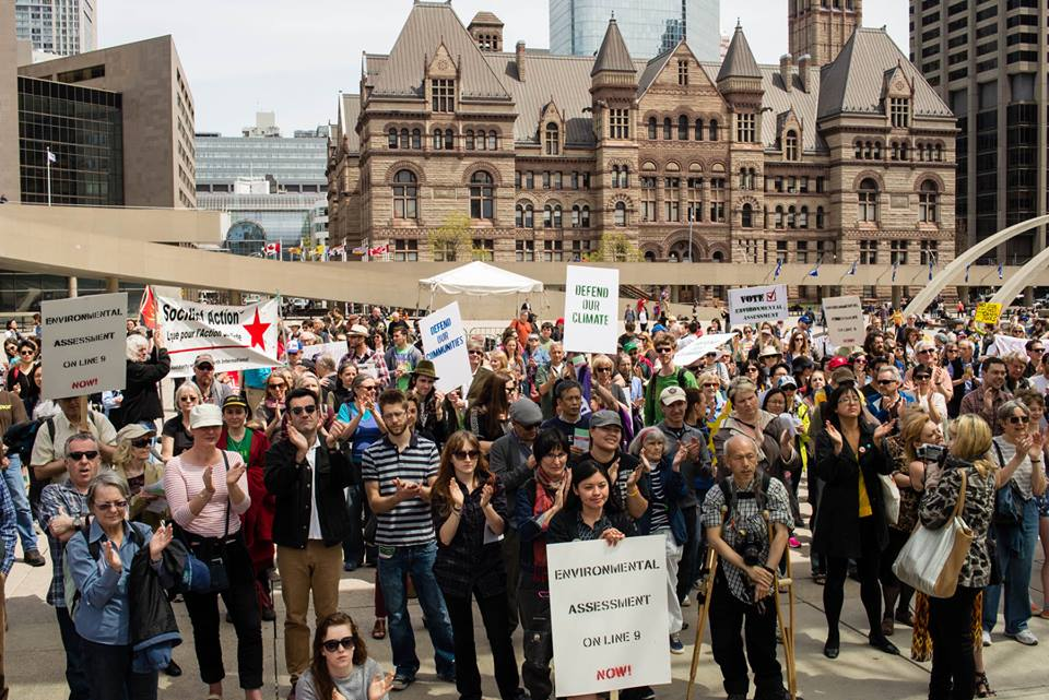 The May 10 Demonstration in Toronto - courtesy Kevin Konnyu