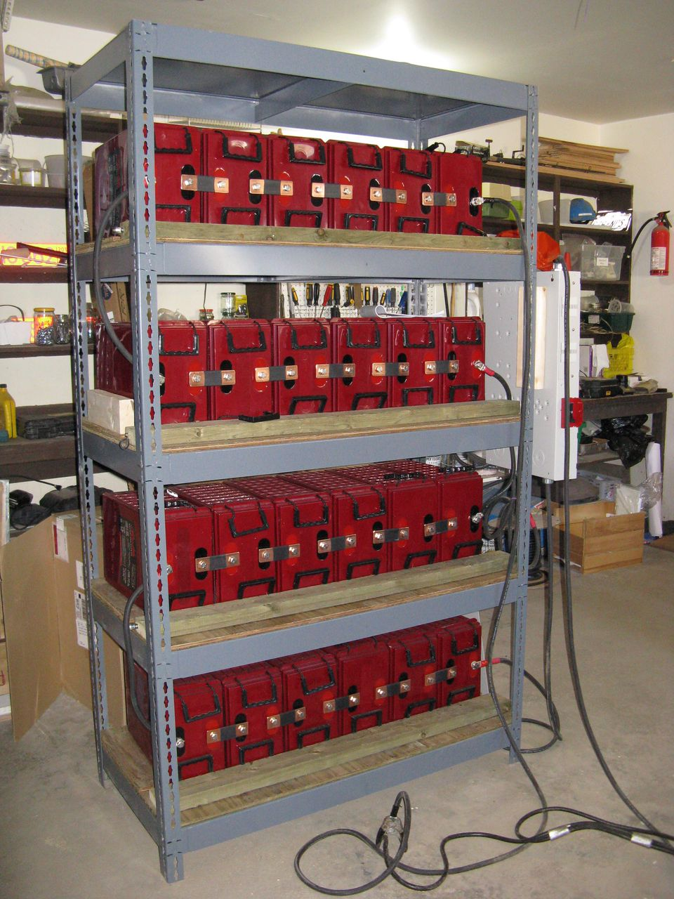 The system's industrial battery back-up