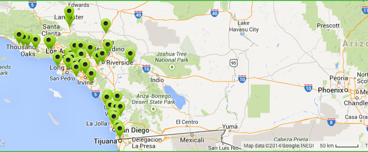 eVgo Charging Stations in Southern California - Courtesy eVgo