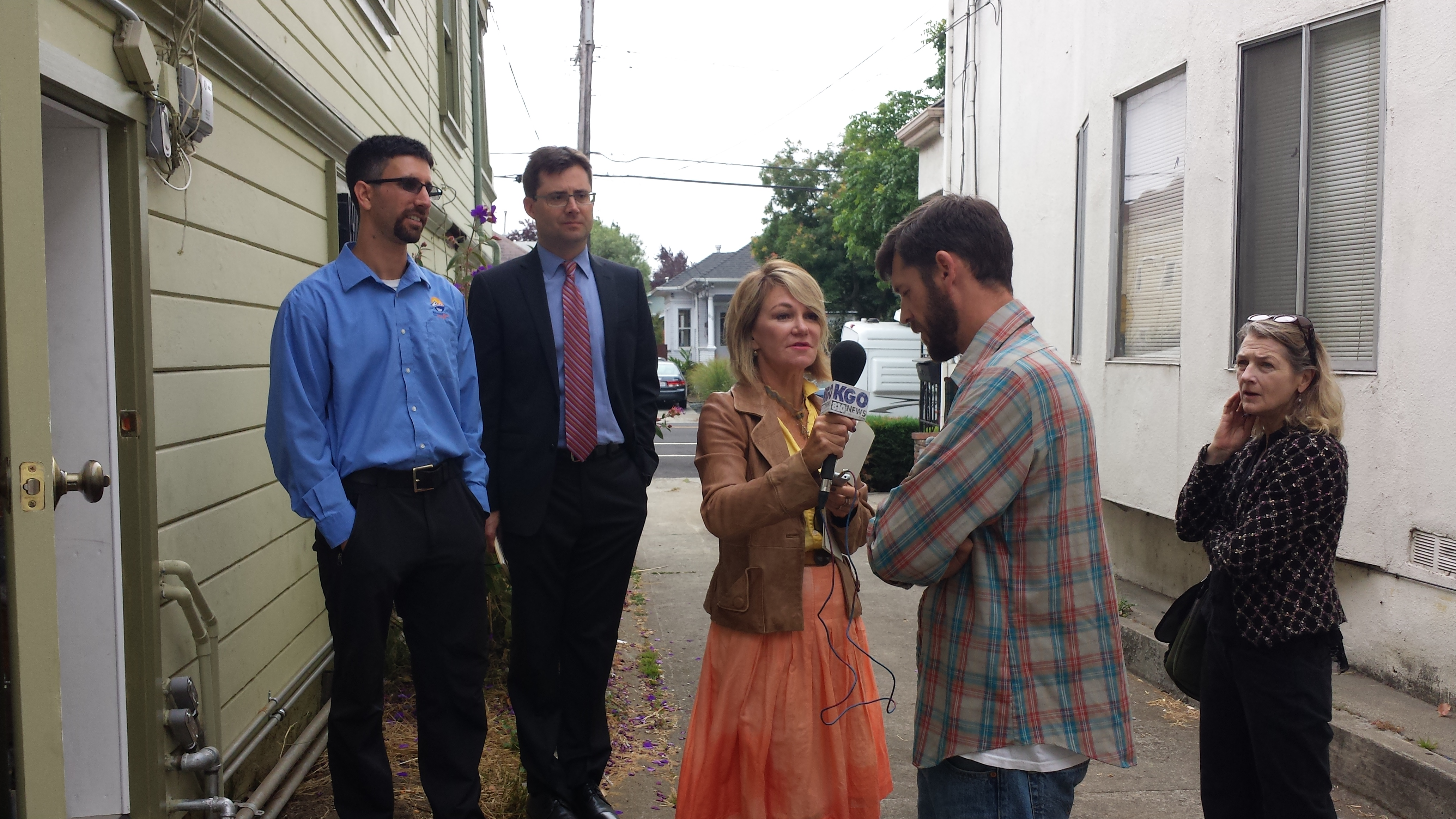 Interview with homeowner at the launch of California First (Click on image to expand) - Image Courtesy Renewable Funding