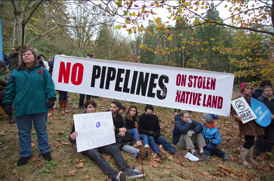 If KInder Morgan tries to push an oil pipeline through Burnaby Mountain, it may become emeshed in an aboriginal title dispute Photo Credit: Mark Kltotz via Flickr (CC By SA, 2.0 License)