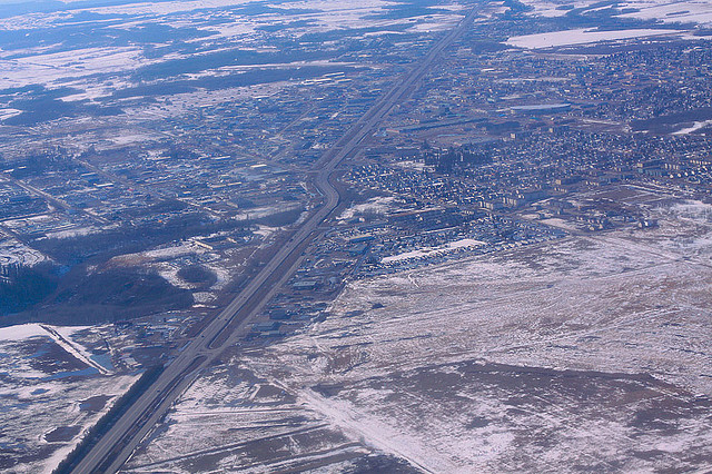 Fort St John, in the heart of BC's natural gas region. Photo by waferboard via Fllickr (CC BY SA, 2.0 License)