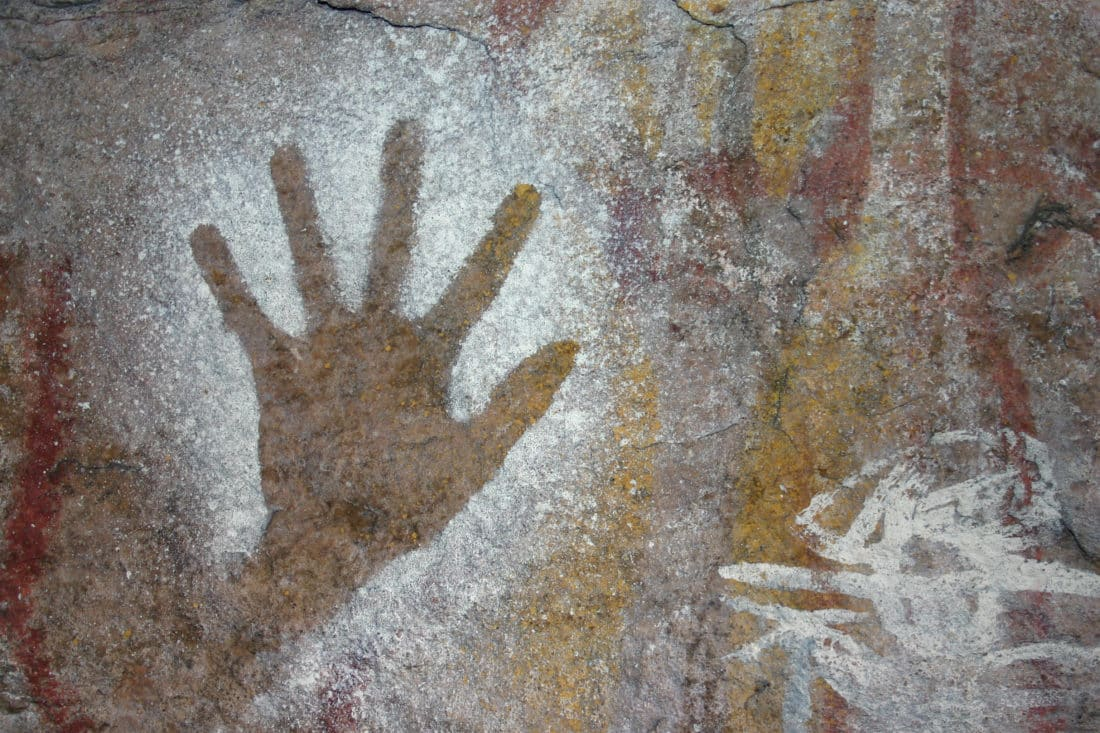 102989 Cave hand print