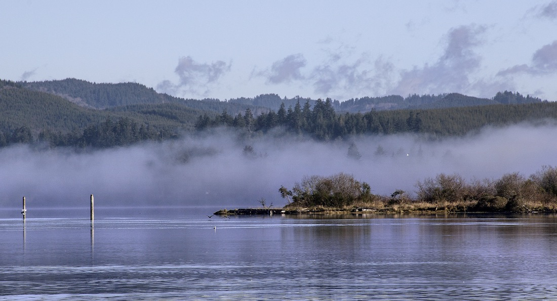 Photo Credit: The fog over Coos Bay gradually lifted and turned into a beautiful day by Sheila Sund via Flickr (CC BY SA, 2.0 License)