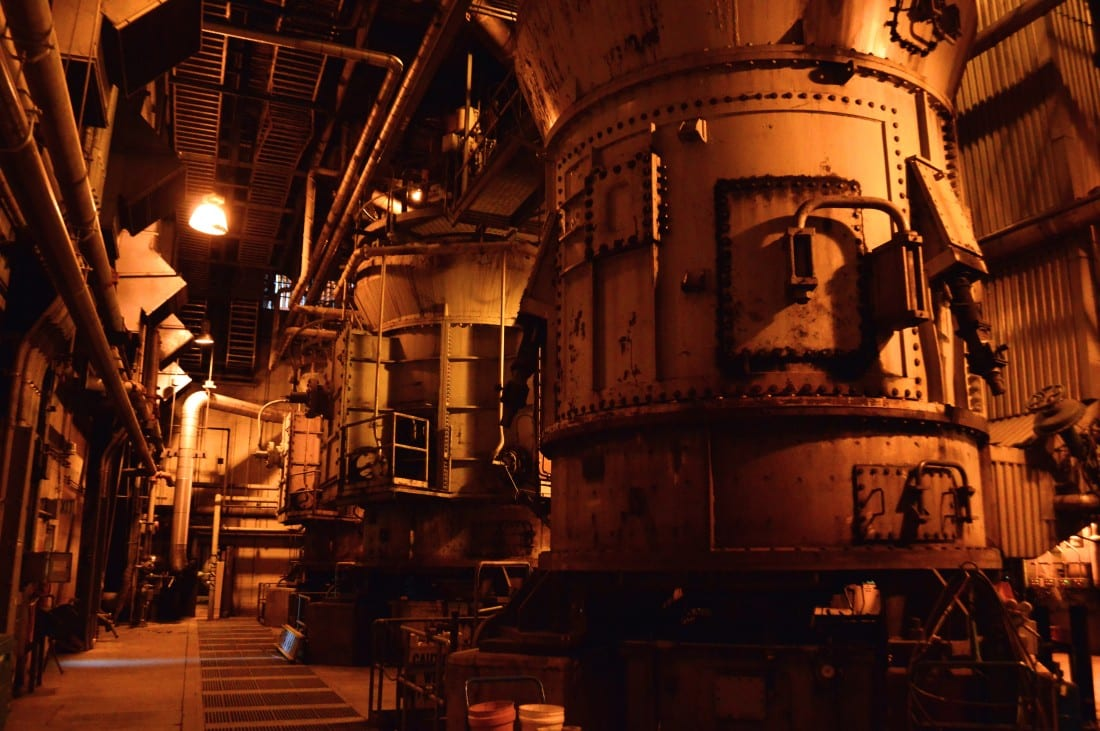 Photo Credit: Large cylinders in which coal is ground in preparation for burning in the main chamber of the Boardman Coal Plant by Ninjanabe via Wikipedia (CC BY SA, 4.0 License)