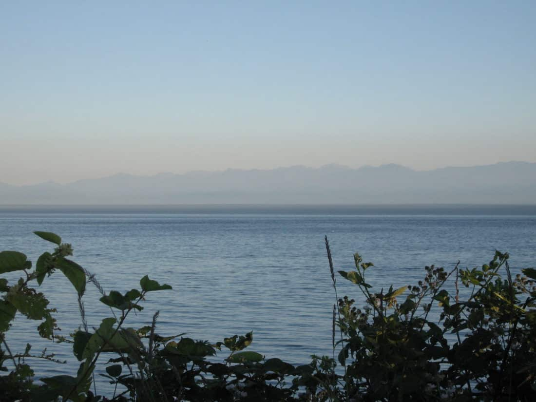 A faint brownish haze over the Olympic Peninsula - Roy L Hales photo