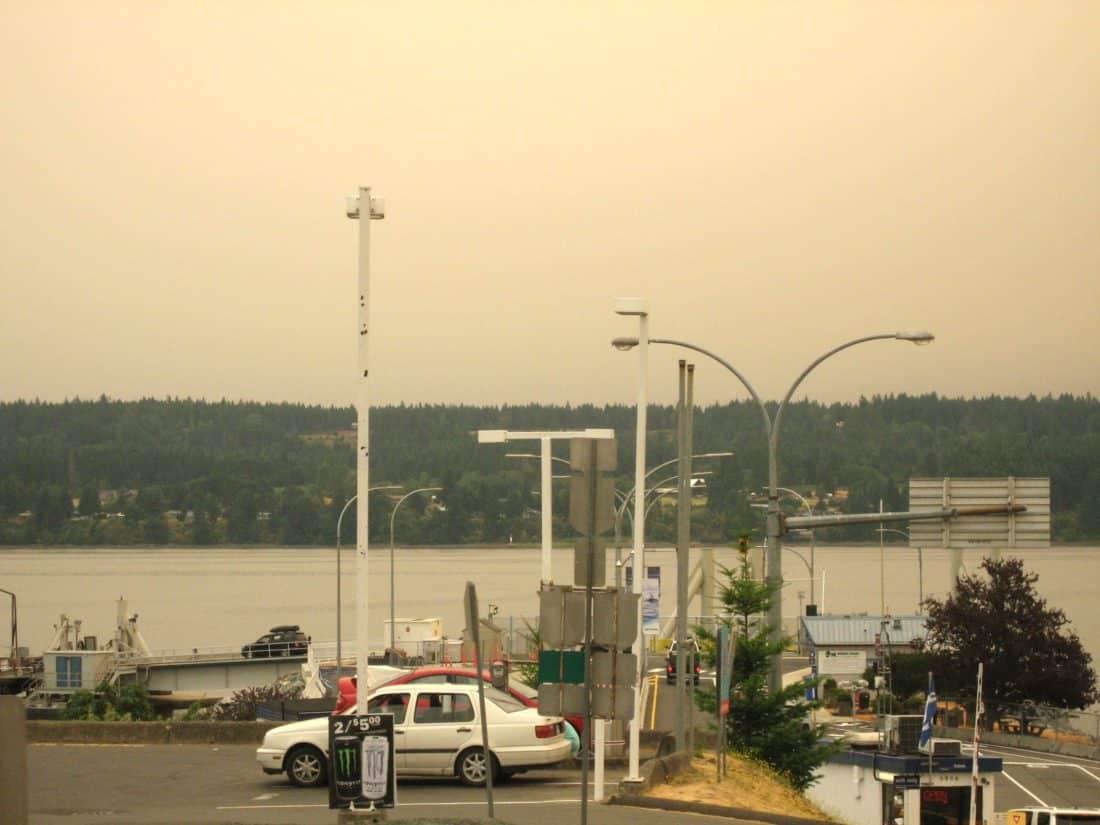 The Haze at Buckley Bay Terminal around 11:00 am, July 5 - Roy L Hales photo