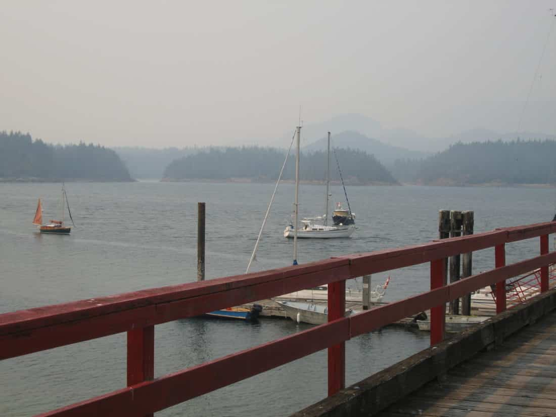 Squirrel Cove on Cortes Island around 4:30 pm on July 5. Those islands were no longer visible by 8 pm - Roy L Hales Photo
