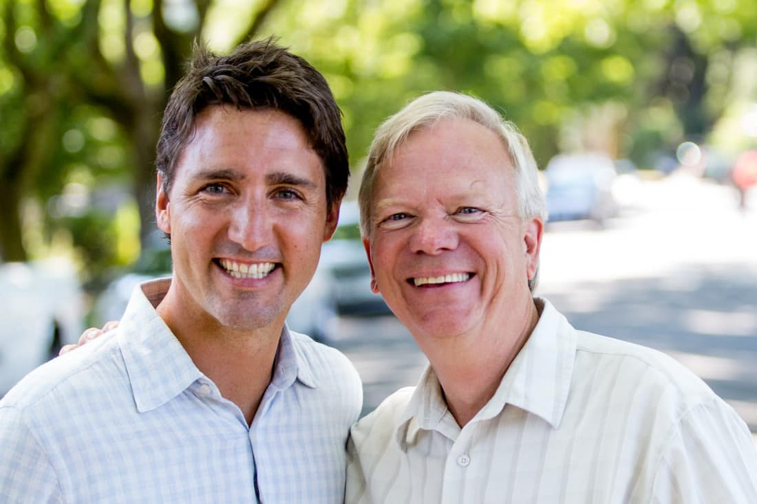 Liberal Leader Justin Trudeau with Peter Schwarzhoff, the Liberal Candidate for North Island-Powell River