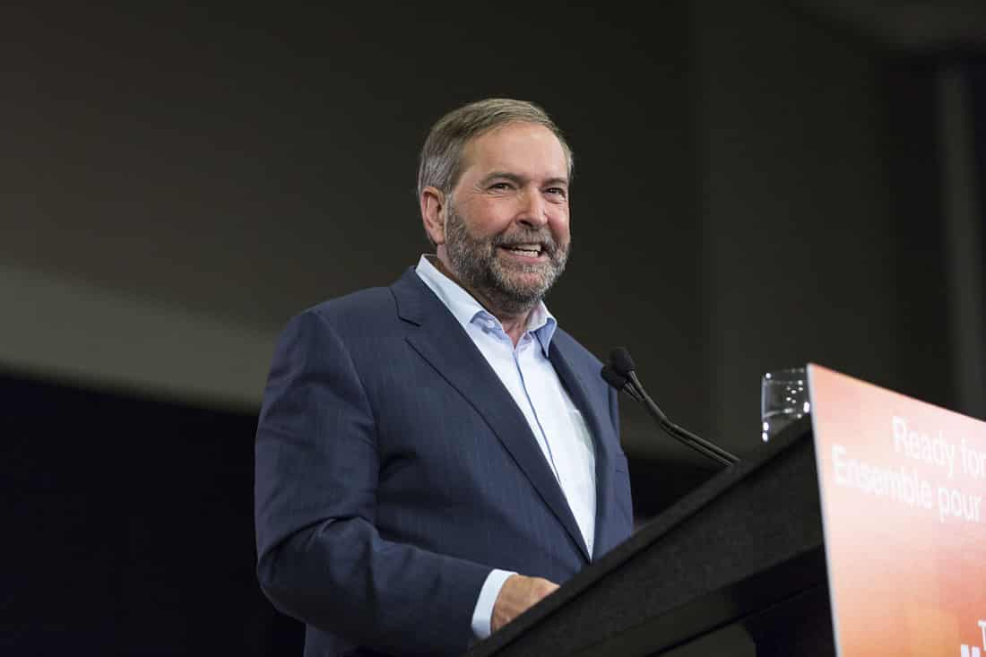 Tom Mulcair in Ottawa, June 2015 from Canada's NDP / NPD du Canada via Wikipedia (CC BY SA, 2.0 License)