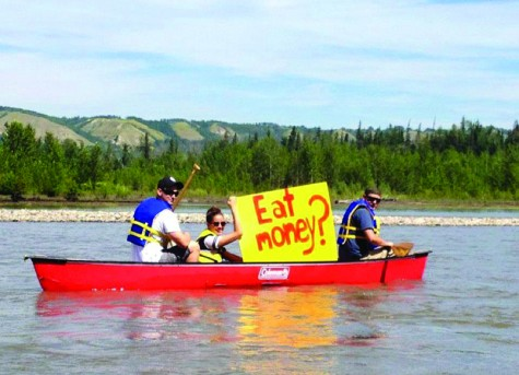 LIz Biggar protests the fact Site C would flood prime agricultural land - from her Facebook page