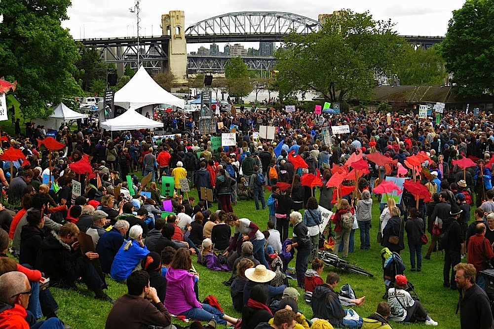 Defend Our Climate Demonstration in Vancouver – Courtesy Jens Wieting, Sierra Club BC