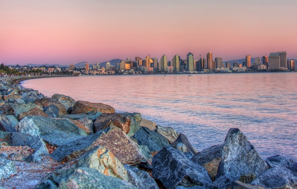 Sunset from Harbor Island in San Diego by Chad McDonald (CC BY SA, 2.0 License)