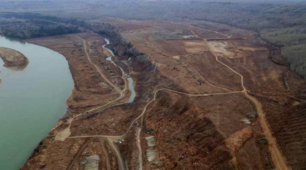 South bank clearing ,Site C dam site – Courtesy Don Hoffmann