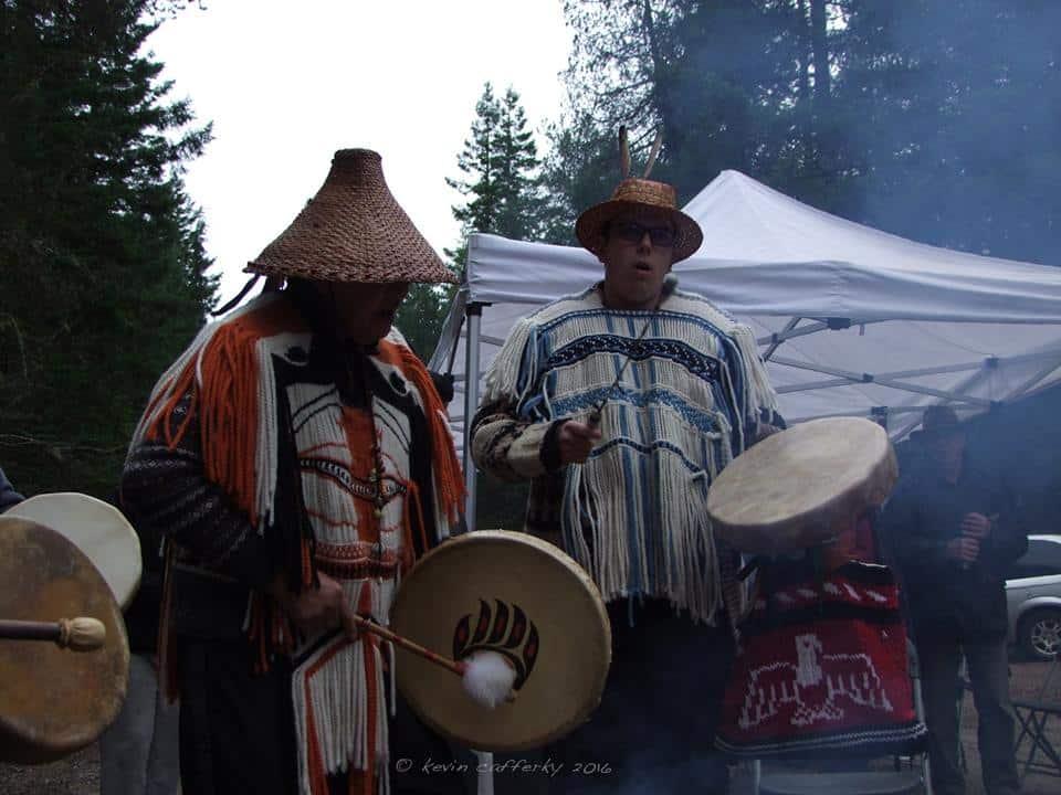Seattle Nation members at the Logging Blockade - Courtesy Elphinstone Logging Focus