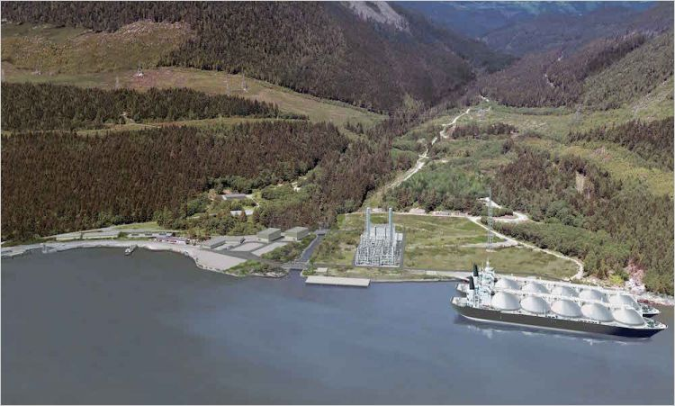 Wood fibre LNG, Image: Courtesy BC's Environmental Assessment Office.
