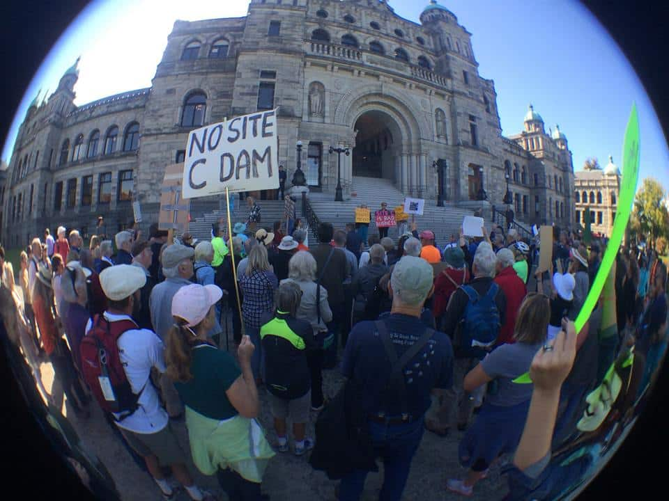 September 20, 2015, Rally at the Victoria Legislature - Courtesy Sue Andrews/Sierra Club BC