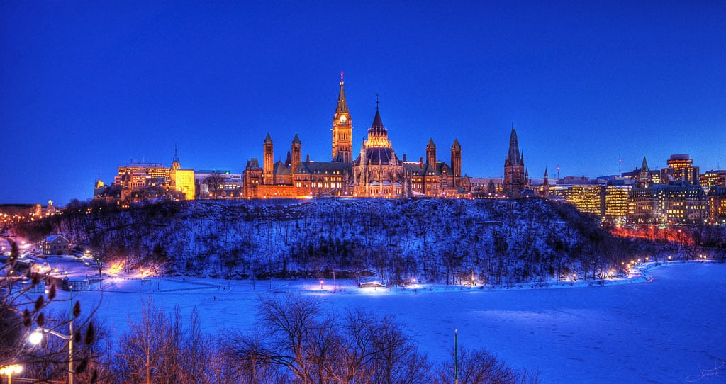 Parliament Hill in Ottawa by tsaiproject via Flickr (CC BY SA, 2.0 License)