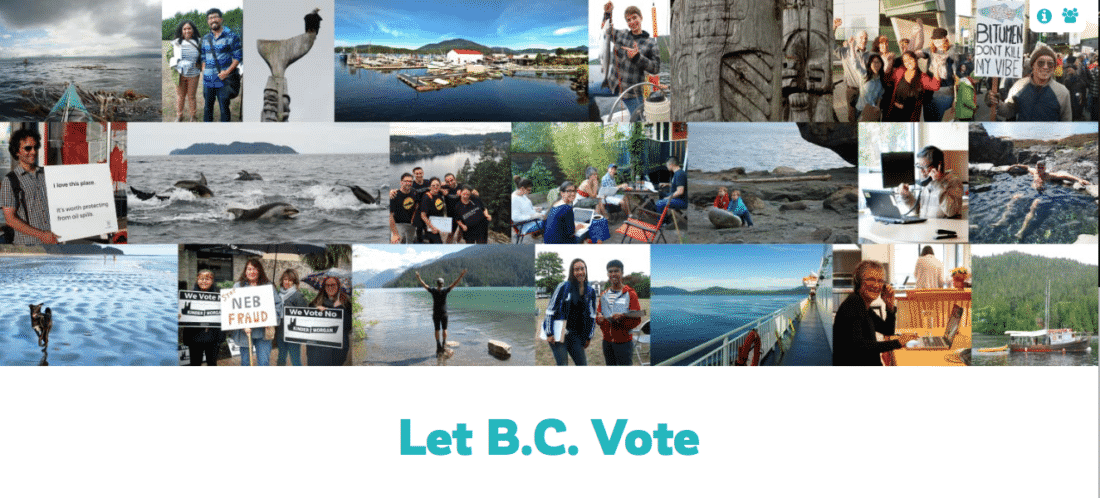 Click on image to access Let BC Vote Website