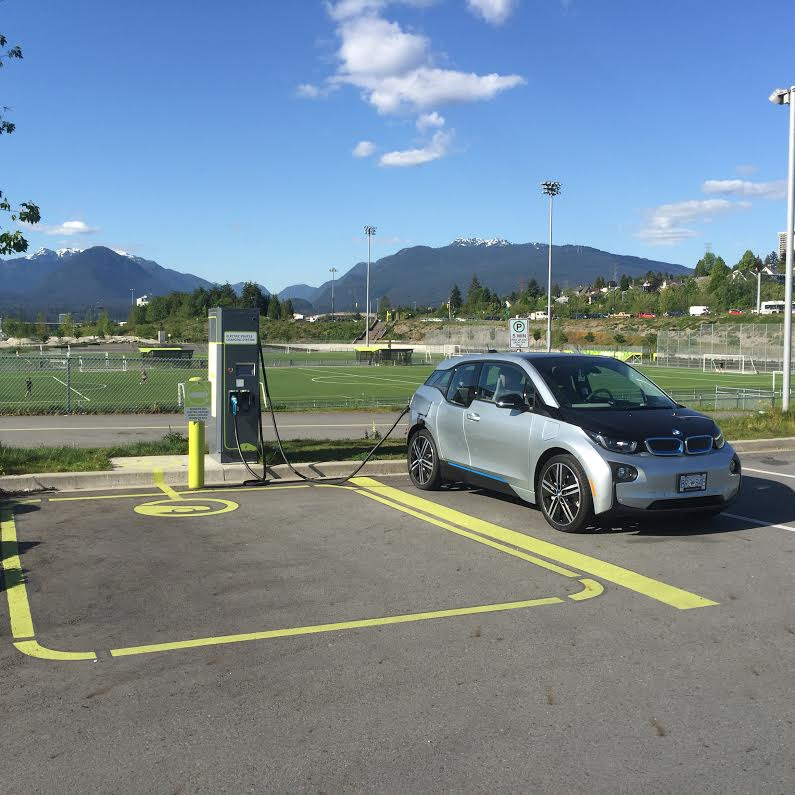 DC fast charge station for electric vehicles at Empire Fields - Courtesy City of Vancouver