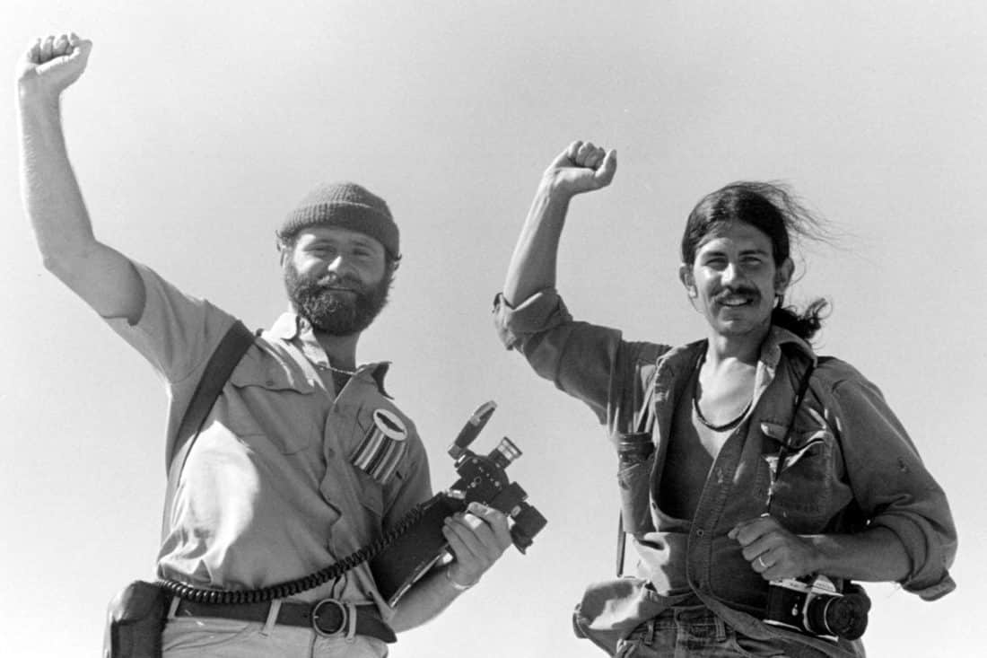 Ron Precious (left) and Rex Weyler, Greenpeace whale voyage, 1976. - Courtesy Rex Wyler