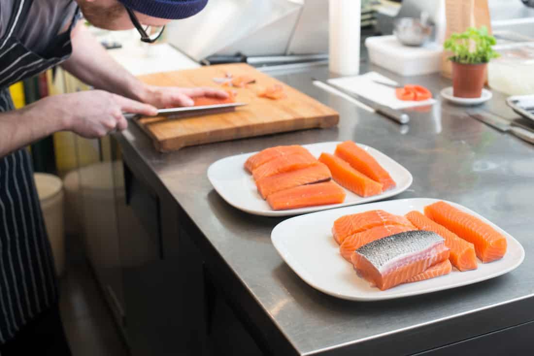 Salmon grown at Kuterra - courtesy Kuterra