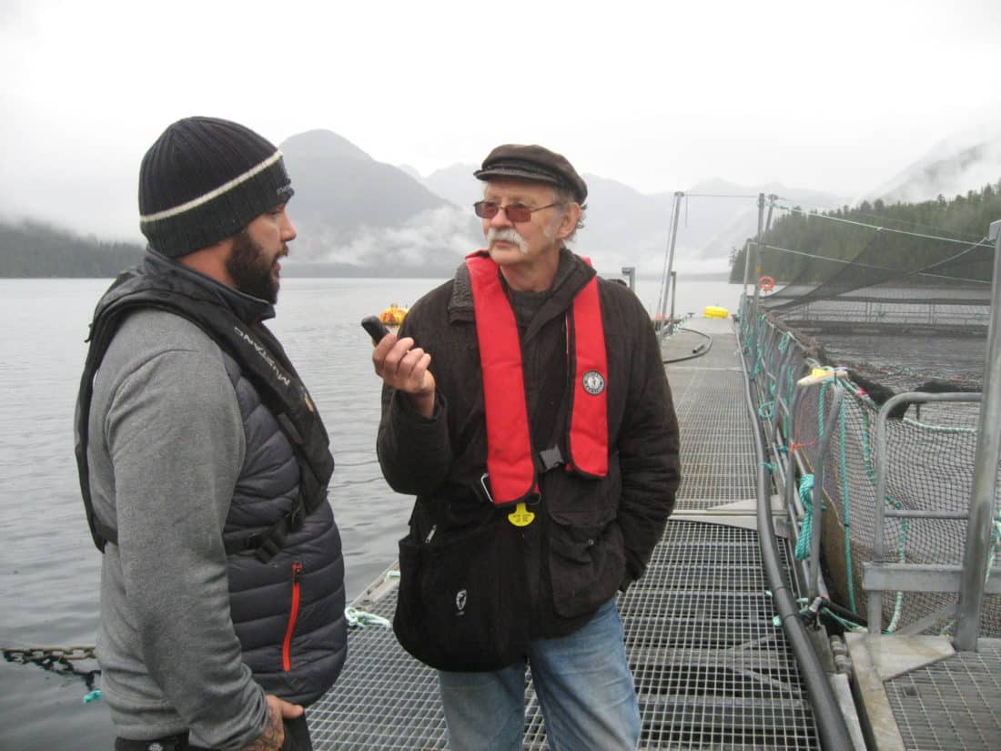 Me interviewing the site's manager, Paul Pattison - courtesy Ian Roberts (on my camera)
