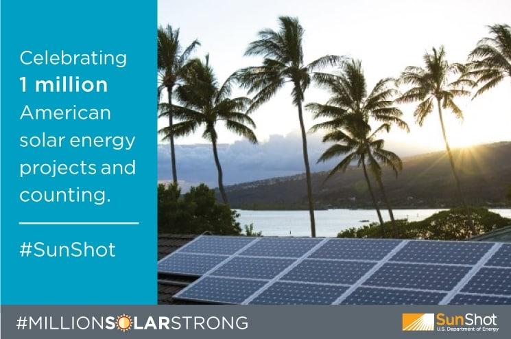 MILLION SOLAR STRONG courtesy Energy.Gov