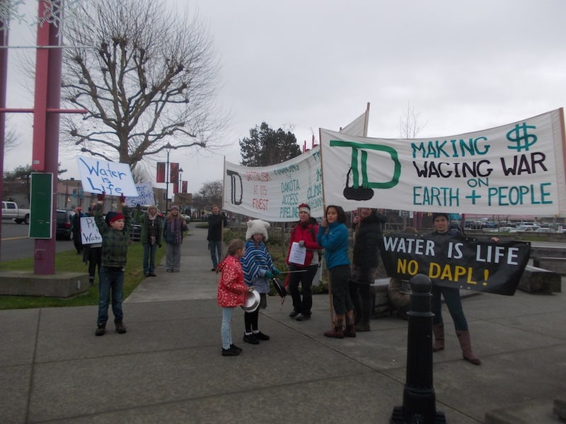 Marchers en route to Campbell River's Spirit Square - Nancy Beach photo