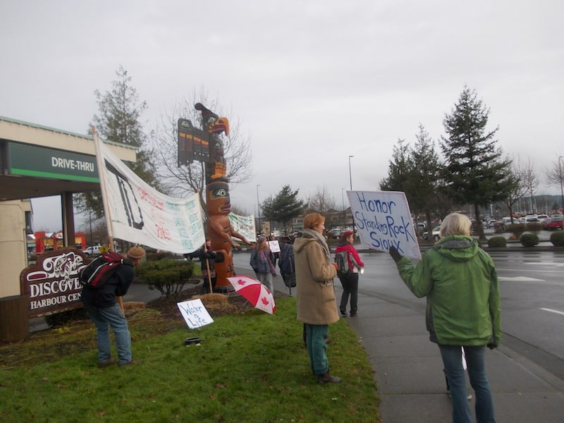 Beside the TD Bank, one of the pipeline's major funders - Nancy Beach photo