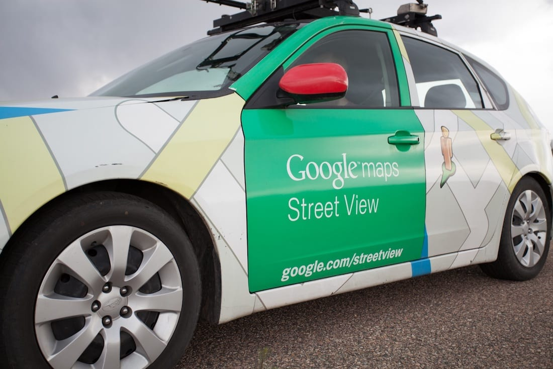 Google Street View mapping car - Courtesy Environmental Defense Fund