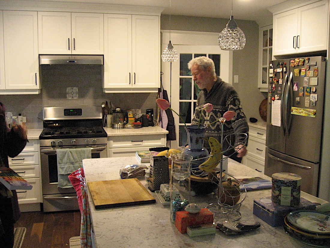 Guy Dauncey in the kitchen of his home near Ladysmith, B.C.