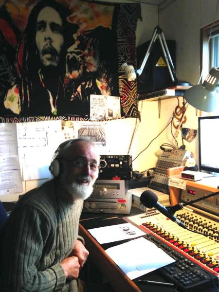 Andy Vine in his studio at home.