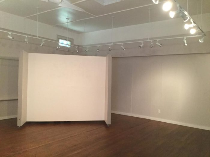 The Old ShoolHouse Gallery's walls waiting for artwork - Laura Balducci photo
