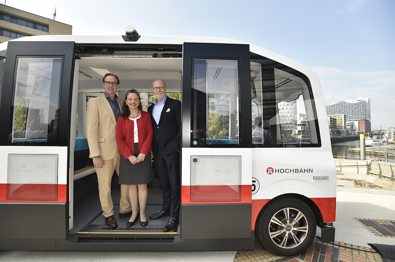 Hamburg's First Autonomous Shuttle Bus