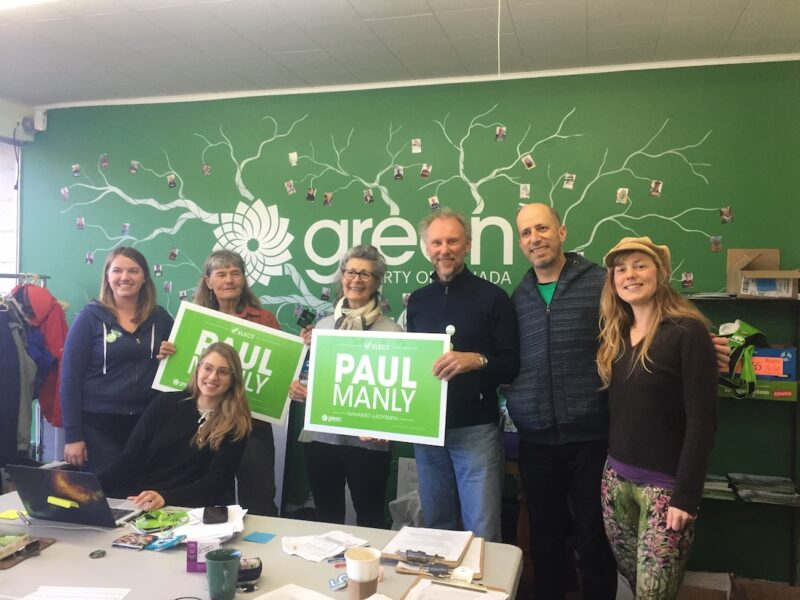 Campaigning for Paul Manly in Nanaimo