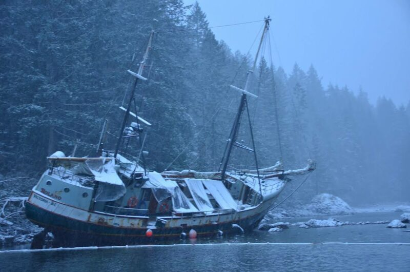 Cortes island's most famous grounding