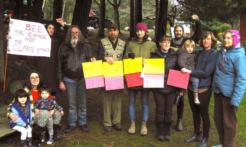 Cortes demonstration in support of the Wet'suwet'en