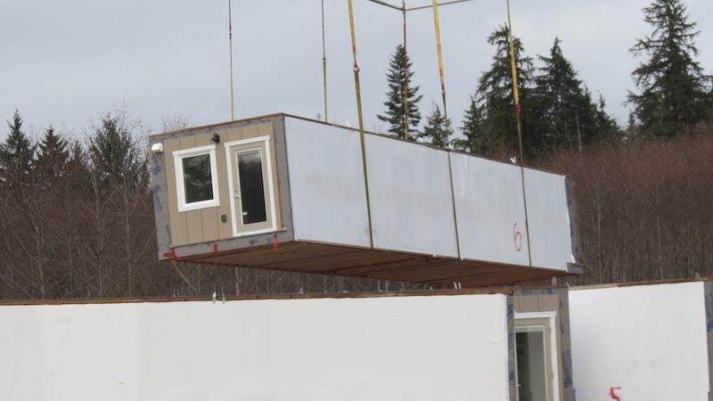 walls of Quadra's new senior residence