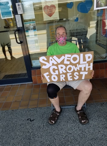 Robert Fuller on a hunger strike for old growth forests