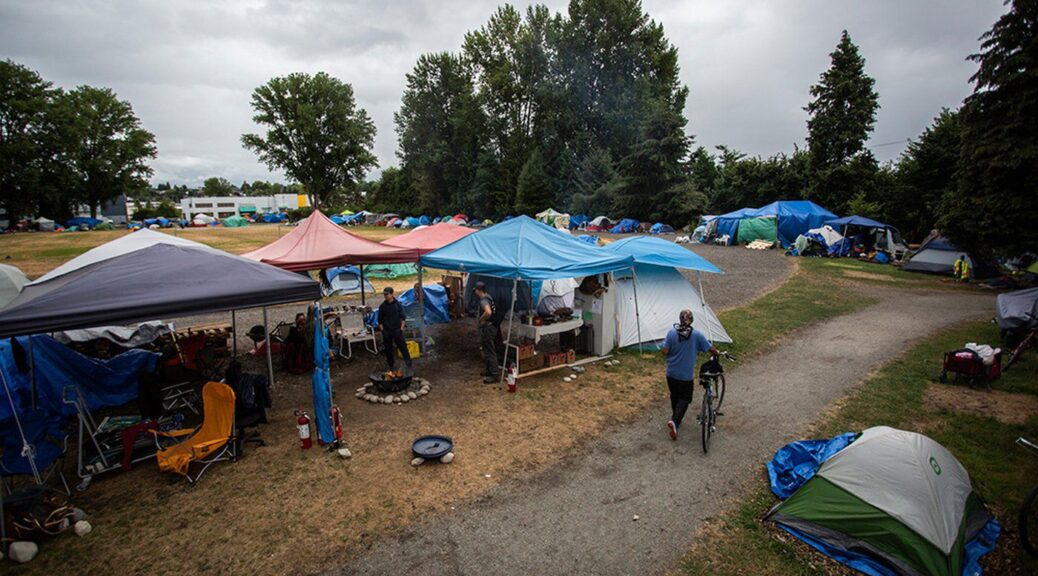 sanctioned tent city