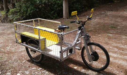 Another view of the cargo e-trike