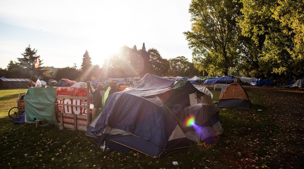 Strathcona Park Tent City