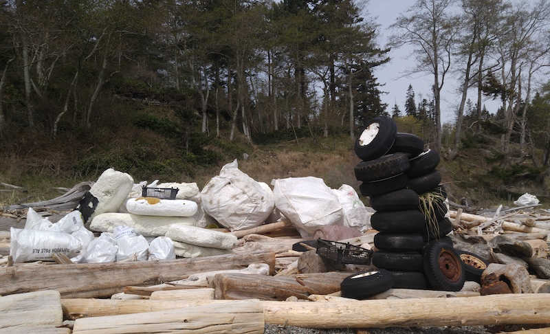 The type of debris sent to BC's first Ocean Plastic Depot in Powell River