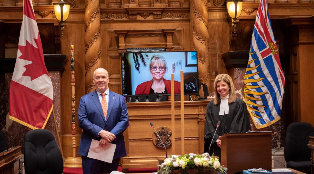 Michele Babchuk being sworn in
