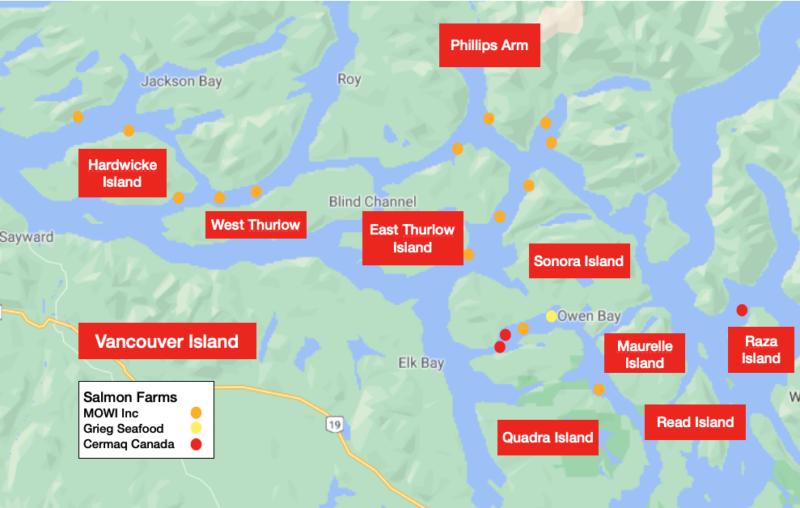 closing down 19 salmon farms