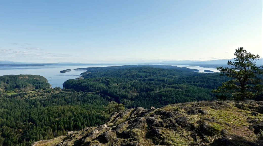 The proposed Quadra Island Research Conservancy hopes to protect a large tract of forest that includes mountain peaks and lakes.