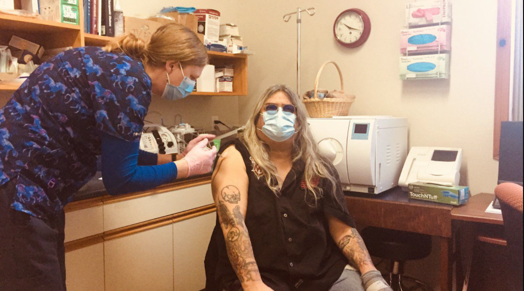 Chief Kevin Peacey receives vaccine