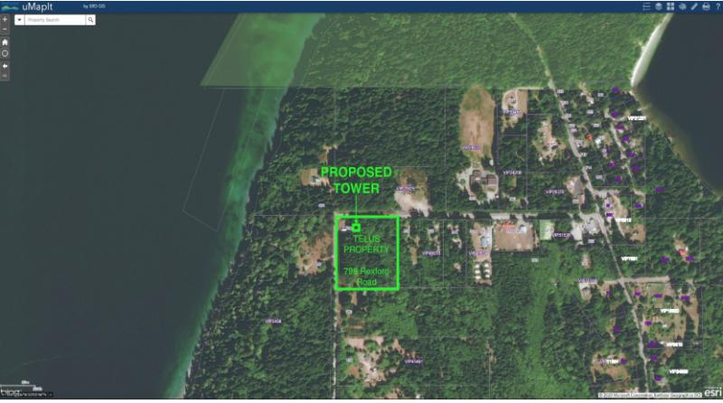 communication tower sites: Mansons Landing